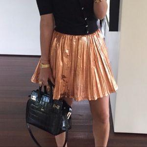 """MSGM """"foil"""" plisse short full circle skirt"""
